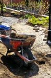 Landscaping work in progress stock photos