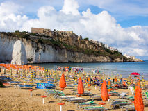 Landscapre of the beach of Vieste,  Apulia Italy Stock Photos
