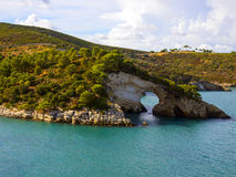 Landscapre de la côte de Gargano Apulia Italie Image libre de droits