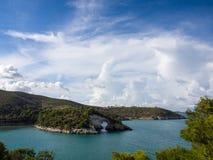 Landscapre della costa di Gargano Puglia Italia Fotografie Stock Libere da Diritti