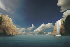 landscapse海和天空在natuer 免版税图库摄影