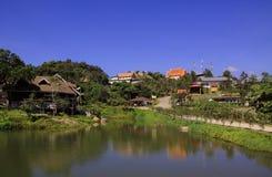 Landscepes, viaggio, cielo, tempio, natura, festa, verde, Asia, Tailandia Immagine Stock Libera da Diritti