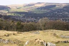 Landschaft über englischer Landschaft Lizenzfreies Stockfoto