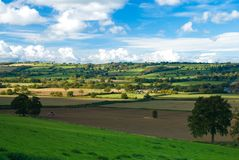 Landschaft-Ackerland Stockbild