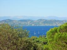 Landschaft, Ansicht über die Bucht Lizenzfreies Stockbild