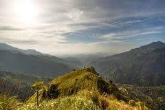 landschaft Ansicht von kleinen Adams Spitze Sri Lanka Lizenzfreie Stockfotos
