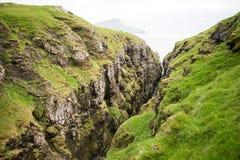 Landschaft auf den Färöern Stockbild