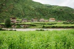Landschaft auf der Sichuan-Landstraße in China Stockfotografie