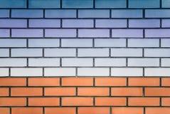 Landschaft auf einer Backsteinmauer lizenzfreie stockfotografie