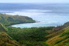 Landschaft auf Hügel stockbild