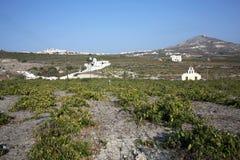 Landschaft auf Santorini-Insel, Griechenland Stockfotos