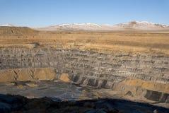 Landschaft am aufgegebenen Kohlesteinbruch Stockfotos