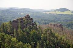 Landschaft in Böhmen Stockbild