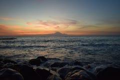 Landschaft Bali vulcan von den Inseln lizenzfreie stockbilder