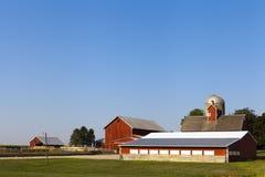 Landschaft-Bauernhof Stockfotografie