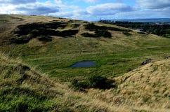 Landschaft bei Arthur& x27; s Seat Stockbilder