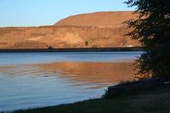 Landschaft bei dem Sonnenuntergang, Oregon Stockfotos