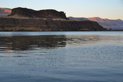 Landschaft bei dem Sonnenuntergang, Oregon Stockfotografie