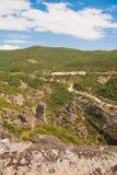 Landschaft bei Meteora Lizenzfreies Stockfoto