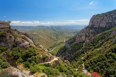 Landschaft bei Montserrat, Katalonien, Spanien Stockfotografie