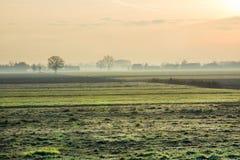 Landschaft bei Sonnenaufgang Stockbild