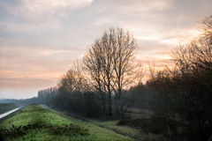 Landschaft bei Sonnenaufgang Stockfoto