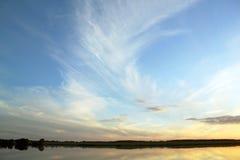 Landschaft bei Sonnenuntergang Stockfotos