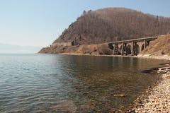 Landschaft, Brücke Stockbild