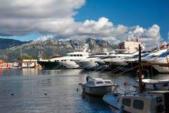 Landschaft in Budva, Montenegro Stockfotografie
