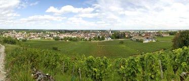 Landschaft in Burgunder Lizenzfreies Stockbild