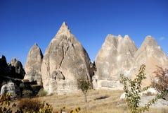 Landschaft in Cappadocia Stockfoto
