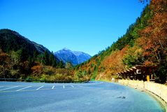 Landschaft Chinas Sichuan Jiuzhaigou Stockfotos
