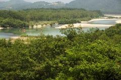 Landschaft Chinas Wenzhou - NanXiJiang-Fluss szenisch Stockfotos