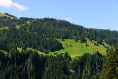 Landschaft Crans Montana Stockfotos
