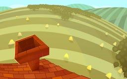 Landschaft, Dachansicht vektor abbildung
