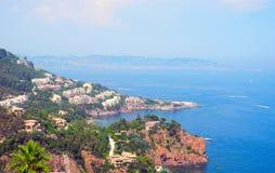 Landschaft de L'Esterel, Frankreich Stockfotografie