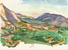 Landschaft in Delphi Lizenzfreies Stockfoto