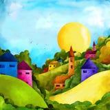 Landschaft in den Hügeln Stockbilder