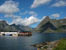 Landschaft in den Lofoten-Inseln Stockbild