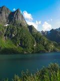 Landschaft in den Lofoten-Inseln Lizenzfreies Stockbild