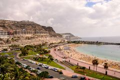 Landschaft in den tropischen vulkanischen Kanarischen Inseln Spanien Lizenzfreies Stockbild