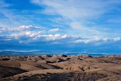 Landschaft der Adobe-Ödländer in Colorado Lizenzfreie Stockbilder