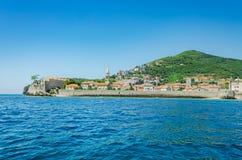 Landschaft der alten Stadt Budva Montenegro Lizenzfreies Stockbild