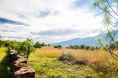 Landschaft der Anden auf Camino Real durch Barichara stockbilder