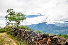 Landschaft der Anden auf Camino Real durch Barichara stockbild