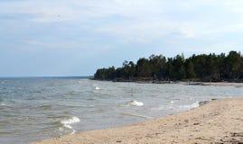 Landschaft der baltischen Küste, Kap Kolka lizenzfreie stockfotografie