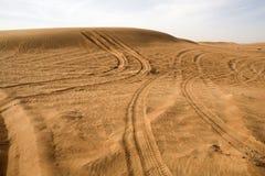 Landschaft der Dubai-Wüste Stockbilder