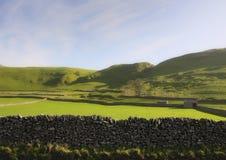 Landschaft der Felder bewirtschaftet im Bezirk des flüchtigen Blicks Stockfoto