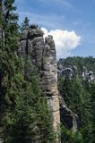 Landschaft in der Felsformationen Adrspach-Teplicestaatsangehörig-Natur Stockfoto