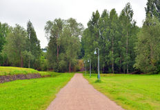 Landschaft in der Festung von Lappeenranta Lizenzfreies Stockbild